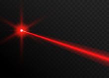 Laser Beam Red Light. Vector L...