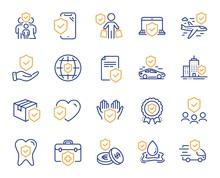 Insurance Line Icons. Health C...