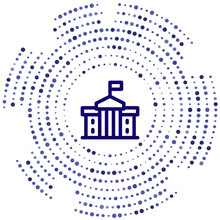 White House Vector Icon. White House Editable Stroke. White House Linear Symbol For Use On Web And Mobile Apps, Logo, Print Media. Thin Line Illustration. Vector Isolated Outline
