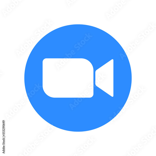 Canvas Video call icon Template for your design