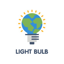 Light Bulb Flat Icon Style Il...