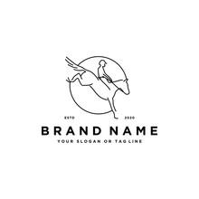 Horse Racing Logo Design Vector