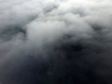 Aerial View Of The Morning Fog...