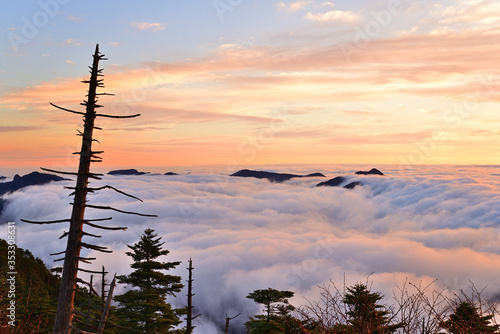 近畿最高峰、八経ケ岳の日の出 Tapéta, Fotótapéta