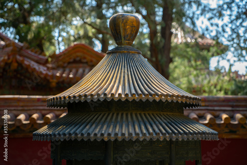 Photo Chinese traditional censer in the forbidden city.