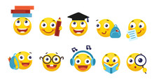 Vector Set Of Smileys For Scho...