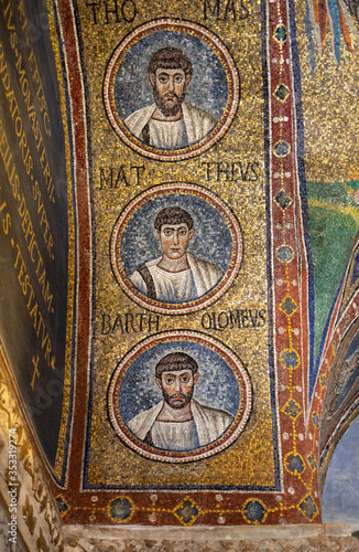 Photo Mosaics of the Chapel of Sant Andrea or Archiepiscopal Chapel  in Ravenna, Italy