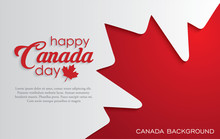 Happy Canada Day Background Wi...