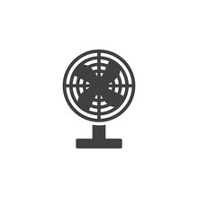 Electric Fan Vector Icon. Fill...