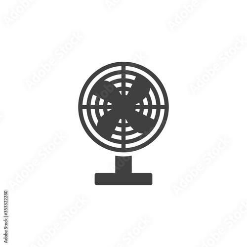 Obraz na plátně Electric fan vector icon