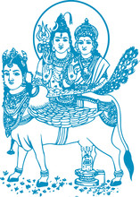 Lord Shiva And Parvati Hindu W...