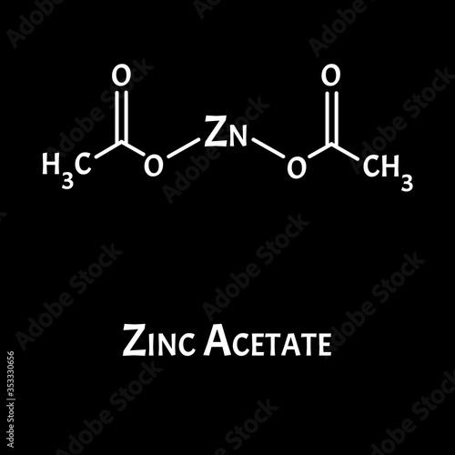 Zinc Acetate is a molecular chemical formula Wallpaper Mural