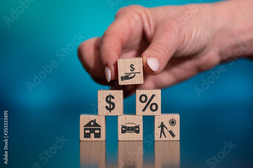 Concept of loan Fototapet