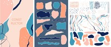 Set Of Abstract Shapes, Torn P...