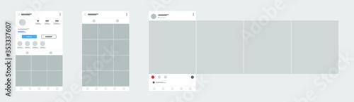 Fotomural Social media mobile app page template