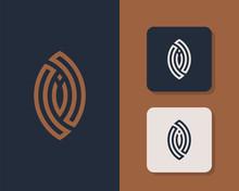 Letters O V And V Or OVO Line Logo Design. Linear Minimal Stylish Emblem. Luxury Elegant Vector Element. Premium Business Logotype. Graphic Alphabet Symbol For Corporate Business Identity