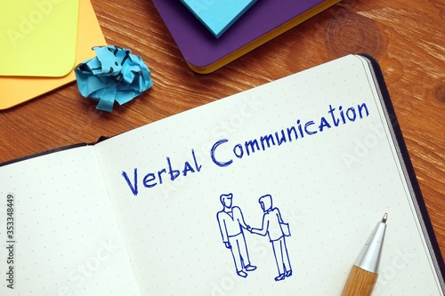 Fotografía Career concept meaning Verbal Communication with phrase on the piece of paper