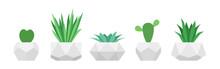 Flowers In Trendy Geometric Po...