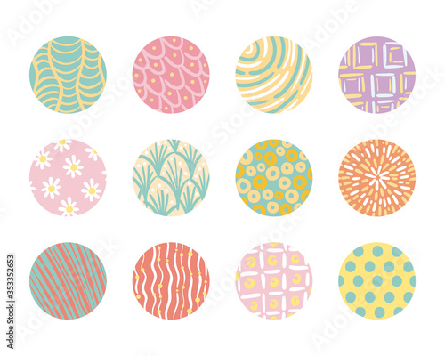 Fototapeta bundle of organic patterns set obraz