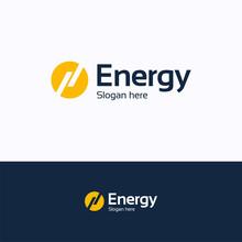 Energy Logo. Lightning Sun Ene...