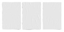 White Empty Badly Glued Paper ...