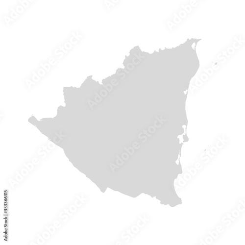 Fotografía Nicaragua vector map country