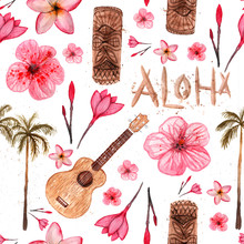 Hawaiian Simbols - Luau, Aloha...