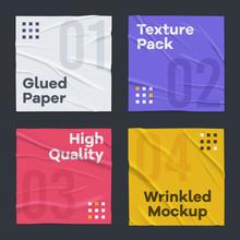 Glued Wrinkled Paper Set