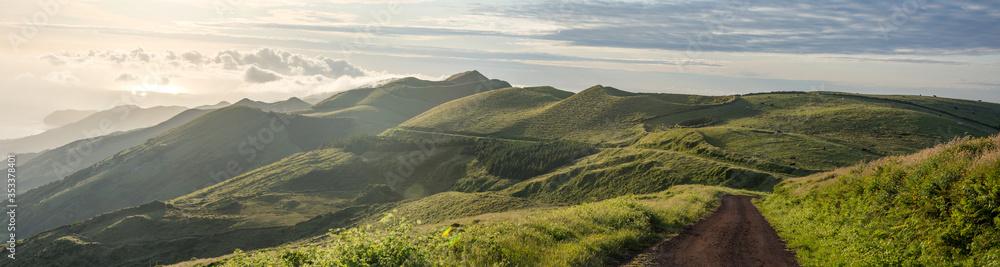 Fototapeta Walk on the Azores archipelago. Discovery of the island of sao jorge, Azores. Portugal. , Azores. Velas
