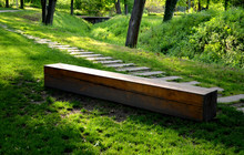 Bench One Piece Of Wood Made P...