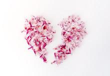 A Broken Heart Made Of Pink Fl...