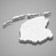 Friesland 3d Map Province Of Netherlands Template For Your Design