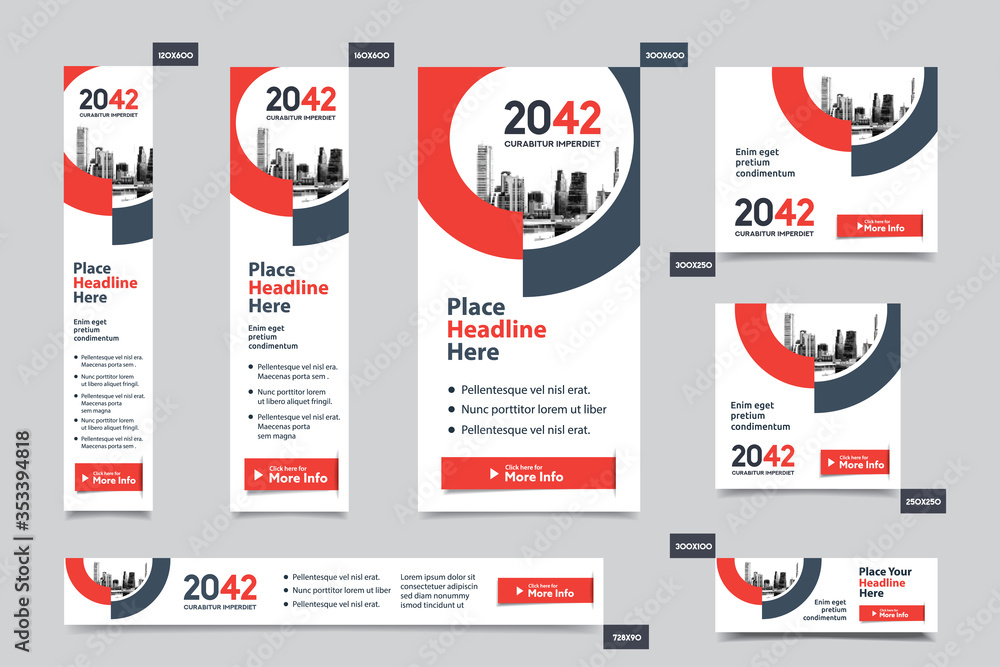 Fototapeta City Background Corporate Web Banner Template in multiple sizes. Easy to adapt to Brochure, Annual Report, Magazine, Poster, Corporate Advertising media, Flyer, Website.