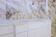 Luxury Bathroom With Marble Wh...