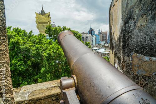 モンテの砦の大砲(マカオ特別行政区) Canvas Print