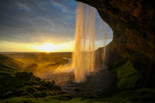 Waterfall Selandjafoss Iceland...