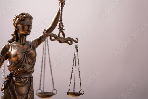 Law and Order, legal symbol the Scales of Justice.. Wallpaper Mural