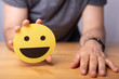 expression emotion smiley in yellow concept