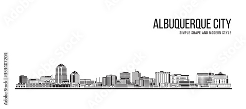 Cityscape Building Abstract Simple shape and modern style art Vector design - Al Wallpaper Mural