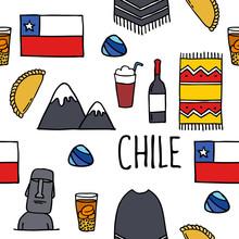 Chile Icons. Chilean Theme Sea...