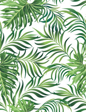 Jungle Vector Pattern With Tro...