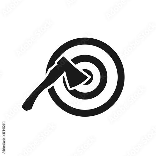 Axe throwing target icon Canvas