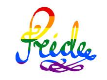 Pride - Word On Spectrum Flag ...