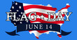 Flag day in the United States june 14, vector illustration of united states map