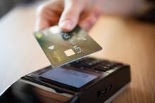 Close Up Of Credit Card Contactless Payment