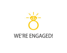 We're Engaged Poster. Clipart ...