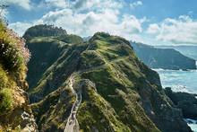 Fuciño Do Porco Hiking Tour, Runs Between Cliffs On Wooden Walkways, Very Touristy , O Vicedo, Lugo, Spain