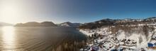 Aerial View Panorama Of Mounta...