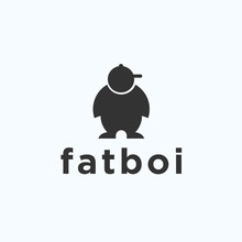 Fat Boy Logo. Meaty Icon