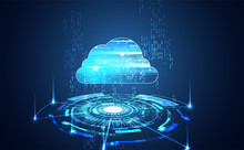 Abstract Cloud Technology With...